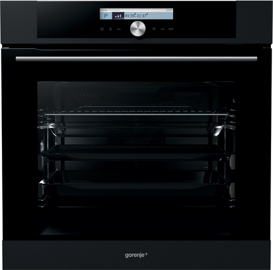 gorenje gp779b einbau backofen bigspace multifunktion grill 73l pyrolyse jetblac ebay. Black Bedroom Furniture Sets. Home Design Ideas